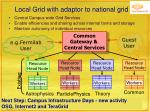 local grid with adaptor to national grid