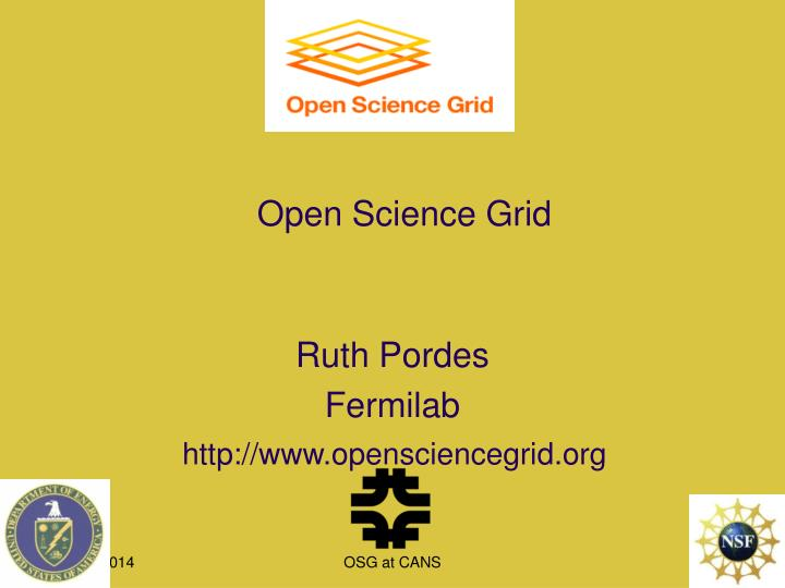 open science grid n.