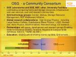 osg a community consortium