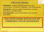 osg core activities