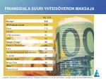 finanssiala suuri yhteis veron maksaja