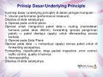 prinsip dasar underlying principle