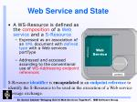 web service and state2