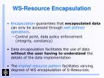ws resource encapsulation
