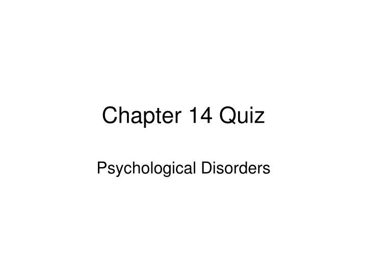 chapter 14 quiz n.