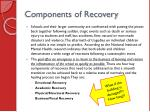 components of recovery