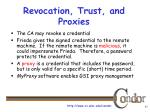 revocation trust and proxies