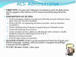 acs administrative