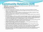 community relations g9