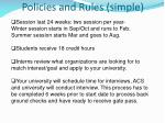 policies and rules simple
