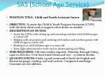 sas school age service