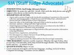 sja staff judge advocate
