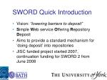 sword quick introduction
