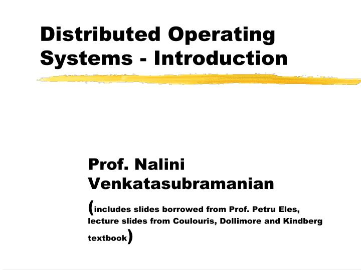 distributed operating systems introduction n.