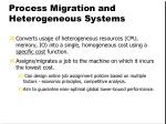 process migration and heterogeneous systems