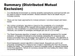 summary distributed mutual exclusion