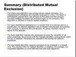 summary distributed mutual exclusion1