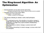 the ring based algorithm an optimization