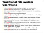 traditional file system operations