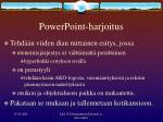 powerpoint harjoitus