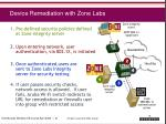 device remediation with zone labs