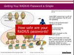 getting your radius password is simple1