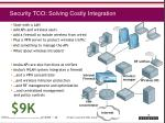 security tco solving costly integration
