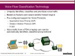 voice flow classification technology