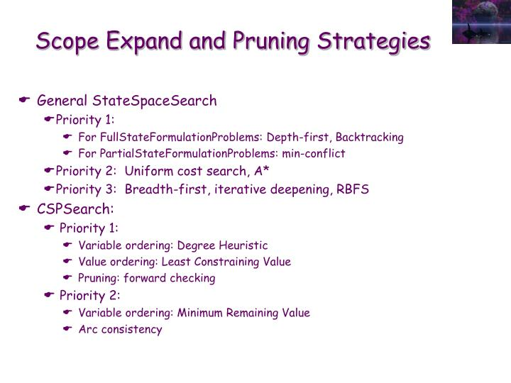 Scope Expand and Pruning Strategies