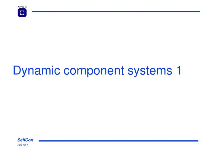 dynamic component systems 1 n.
