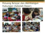 peluang belajar dan membangun hubungan sekolah dasar