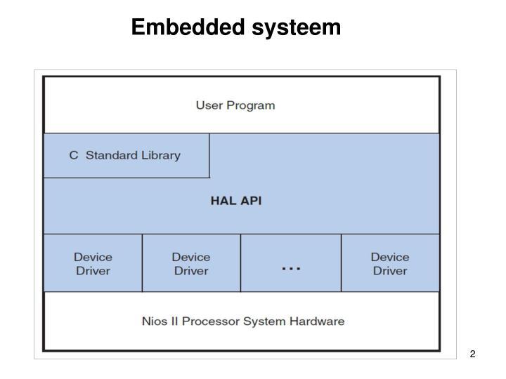 Embedded systeem