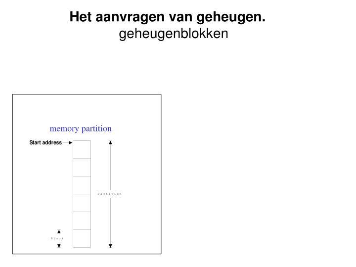 Het aanvragen van geheugen.