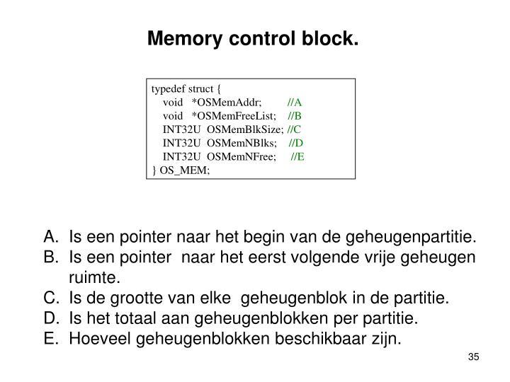 Memory control block.