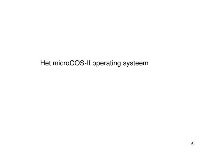 Het microCOS-II operating systeem