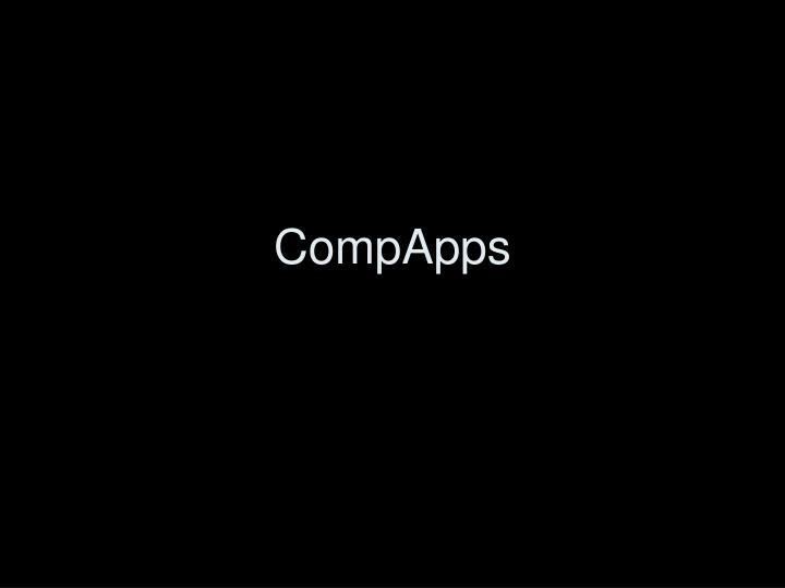 compapps n.