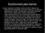 duchovnost jako ance