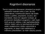 kognitivn disonance