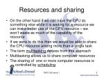 resources and sharing1