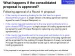 what happens if the consolidated proposal is approved