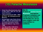 15 falsche messiasse