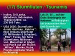 17 sturmfluten tsunamis