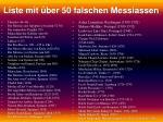 liste mit ber 50 falschen messiassen