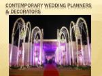 contemporary wedding planners decorators