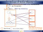 groups of active objects