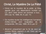 christ le myst re de la pi t