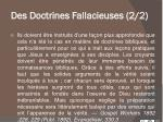 des doctrines fallacieuses 2 2