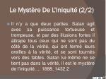 le myst re de l iniquit 2 2