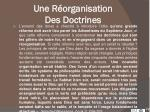 une r organisation des doctrines