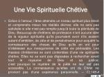 une vie spirituelle ch tive